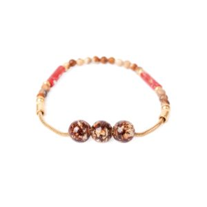 CAPPUCCINO bracelet 3 perles