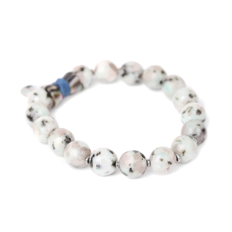 LOTUS bracelet extensible perles rondes
