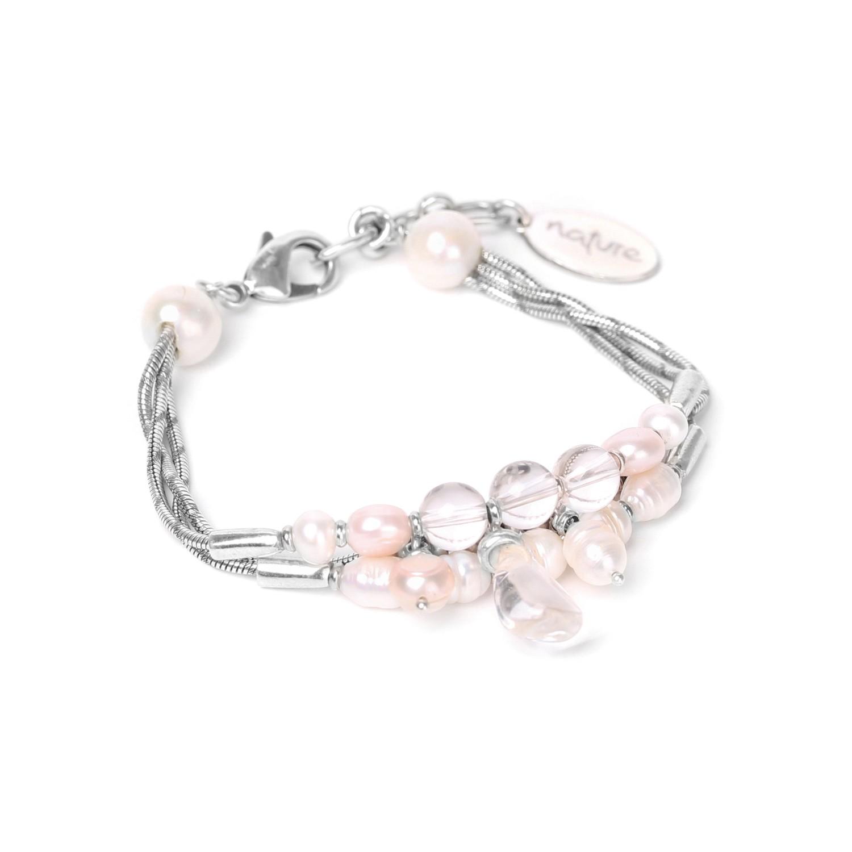 WHITE SWAN bracelet 3 rangs