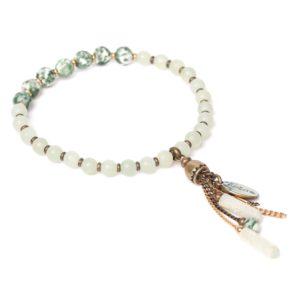 VERACRUZ bracelet extensible & pampilles
