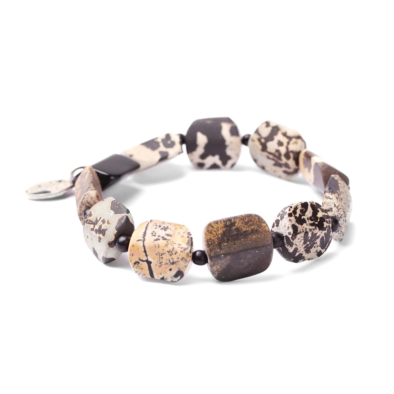 TENERE bracelet extensible perles carrés