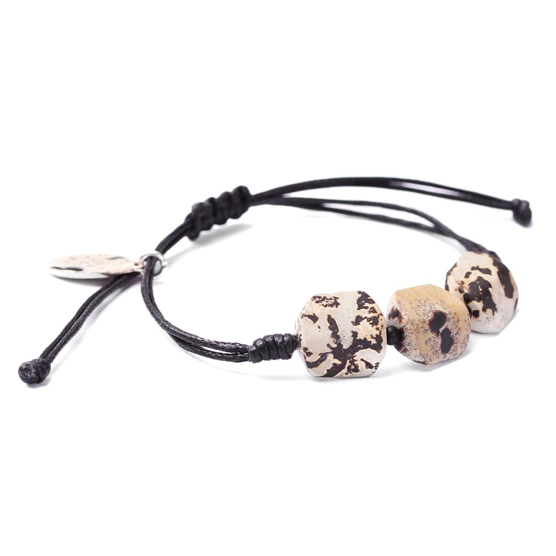 TENERE bracelet macramé 3 perles