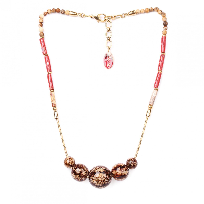 CAPPUCCINO collier 5 perles