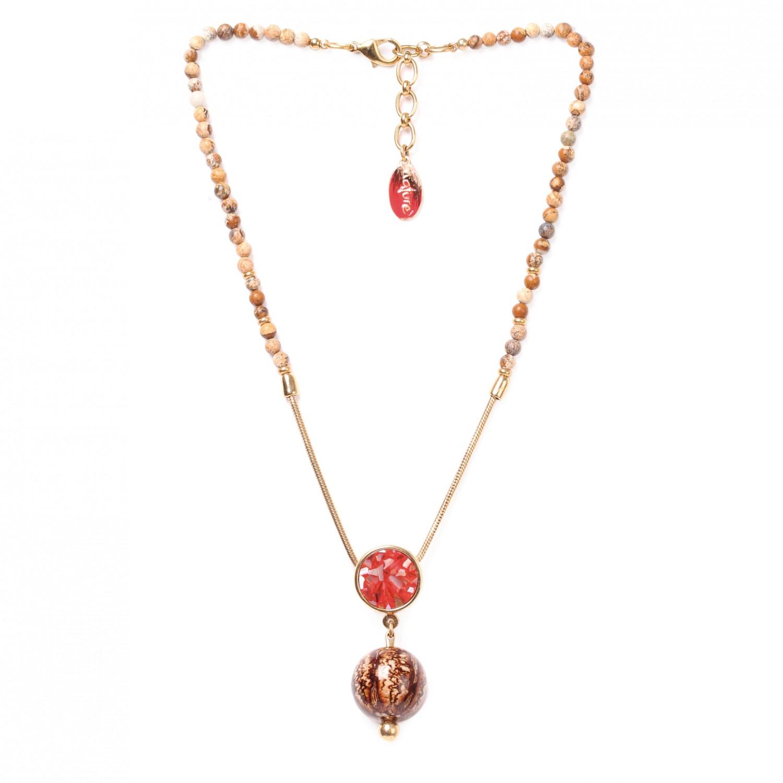CAPPUCCINO collier 1 perle