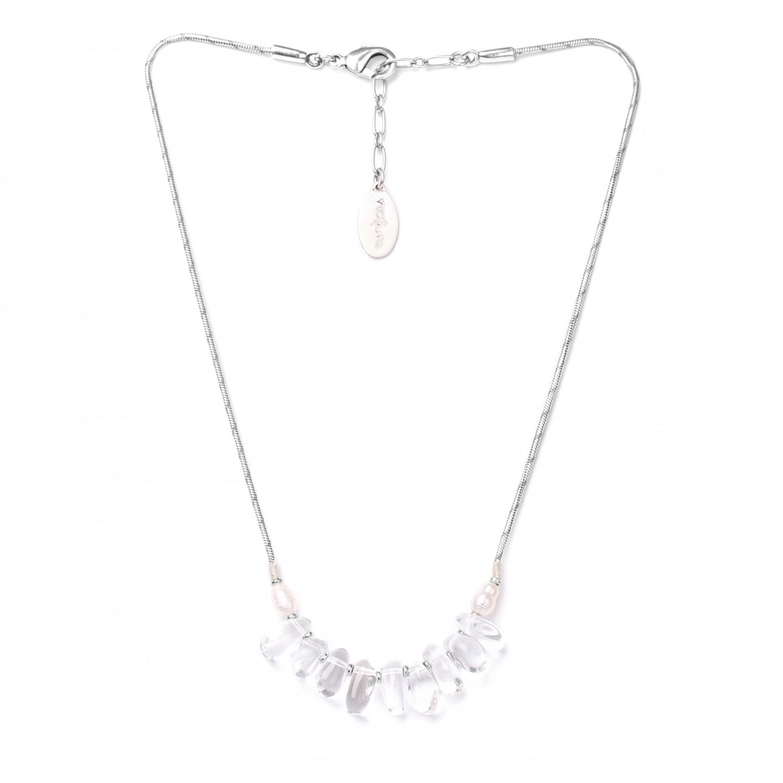 WHITE SWAN collier cristal de roche