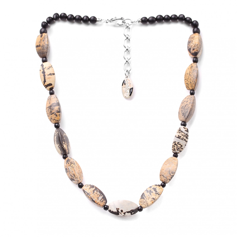 TENERE collier court perles ovales