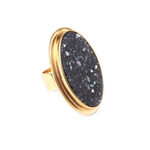 BLACK LIGHT bague ovale