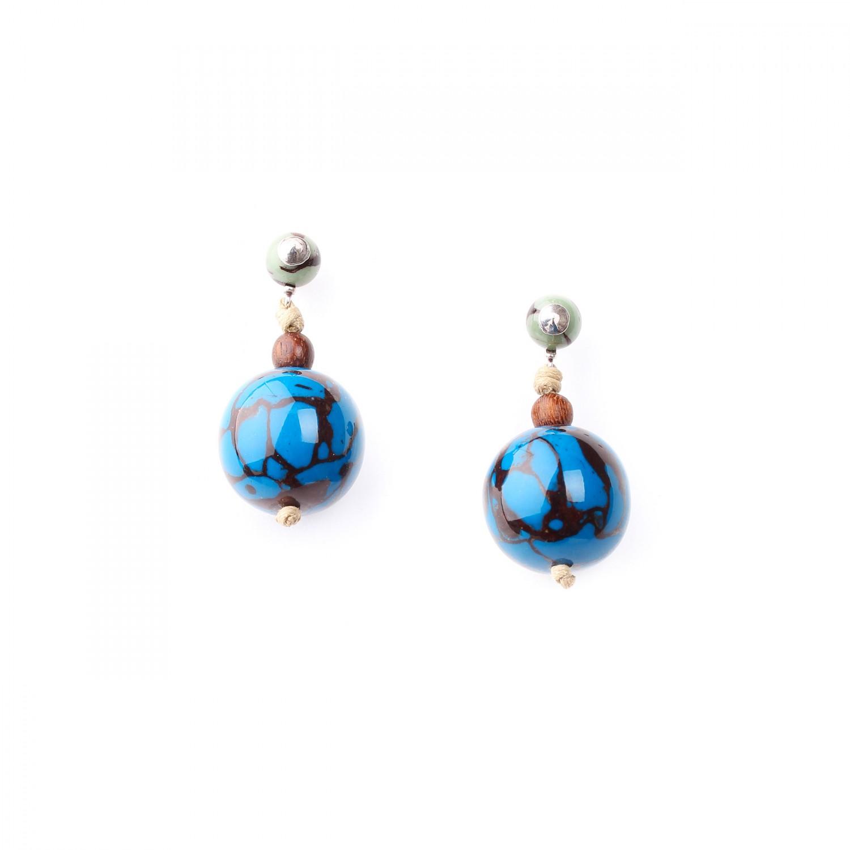 WANDJI BO rondes perle bleue
