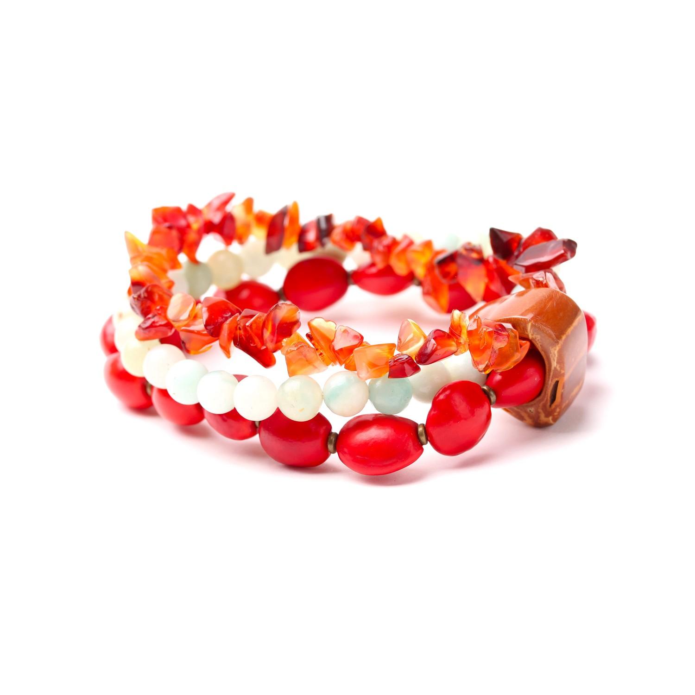 BROCELIANDE bracelet extensible 3 rangs