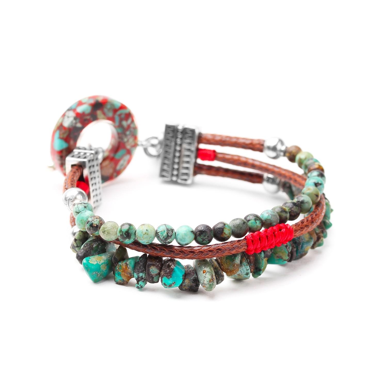 KATMANDOU bracelet fermoir anneau