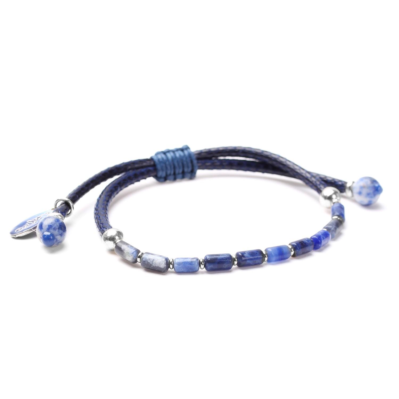 CYCLADES  bracelet ajustable tubes sodalite