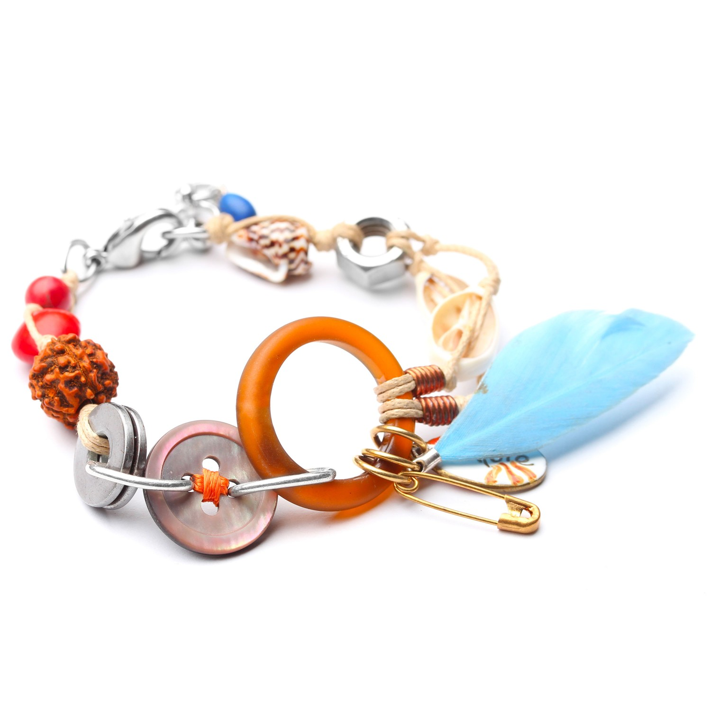 ECO DAY bracelet plume bleue