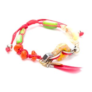 ECO DAY bracelet plume rouge