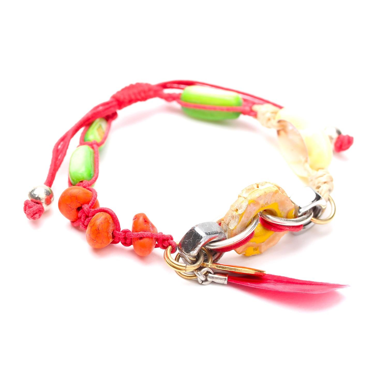ECO DAY bracelet plume rouge