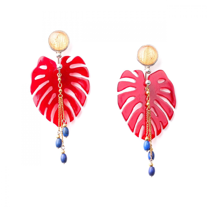 GARDEN CITY BO rouges perles bleues