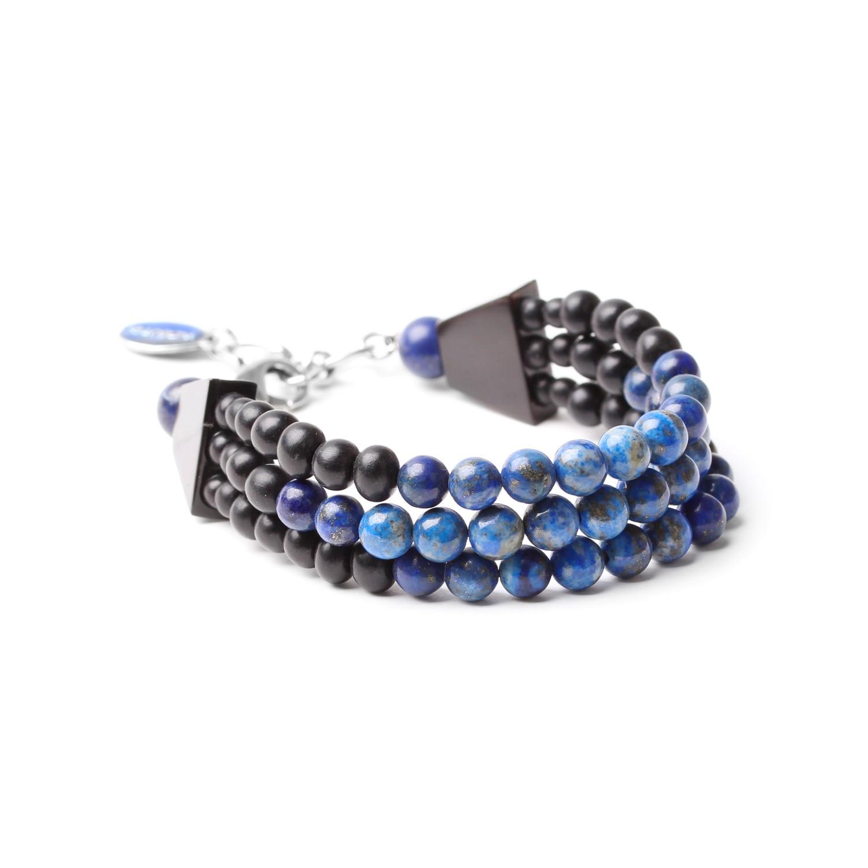 DEEP BLUE bracelet 3 rangs