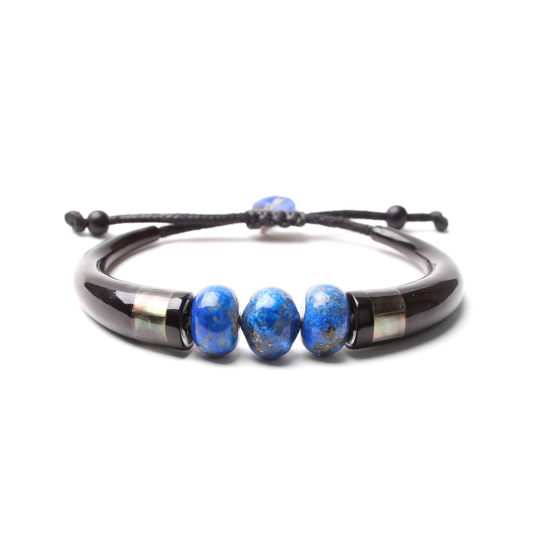 DEEP BLUE bracelet 2 trompes