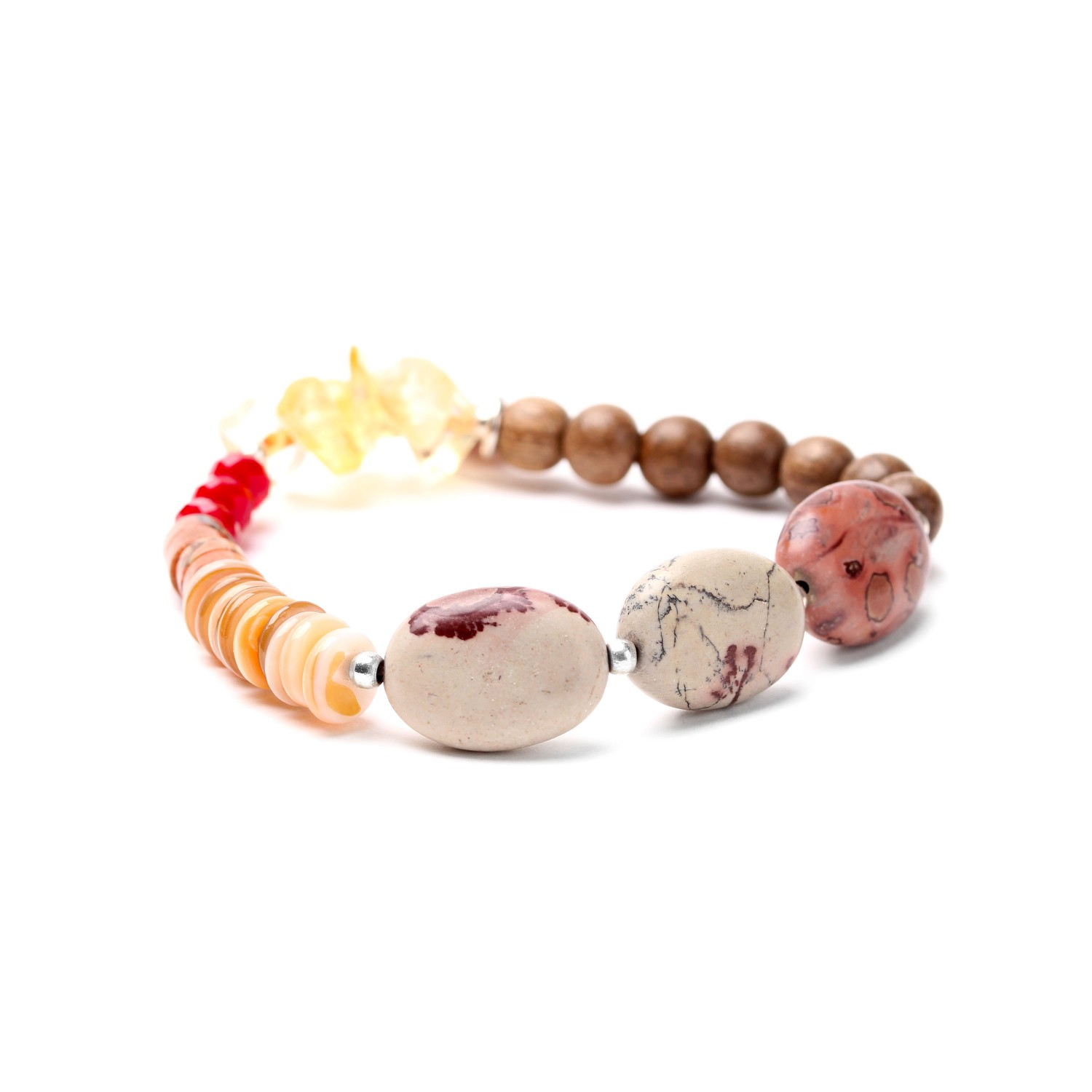 DESERTIGO oval beads stretch bracelet