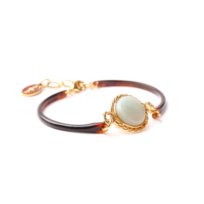 LA SCALA bracelet fin corne dorée