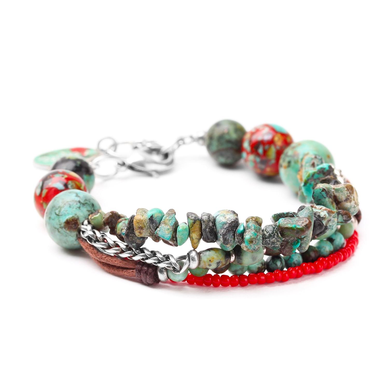 KATMANDOU 3-row bracelet