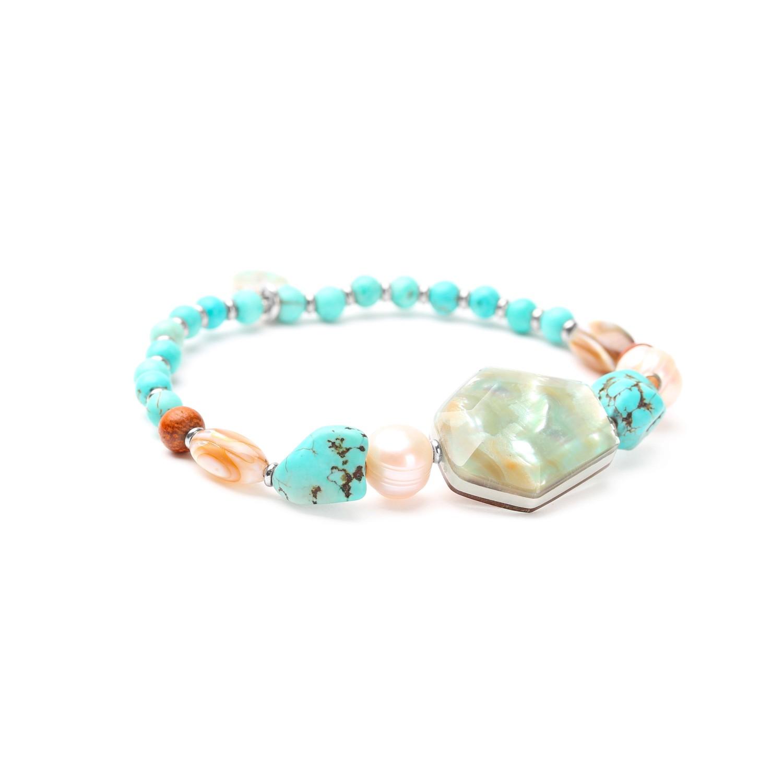MANGAREVA bracelet extensible abalone