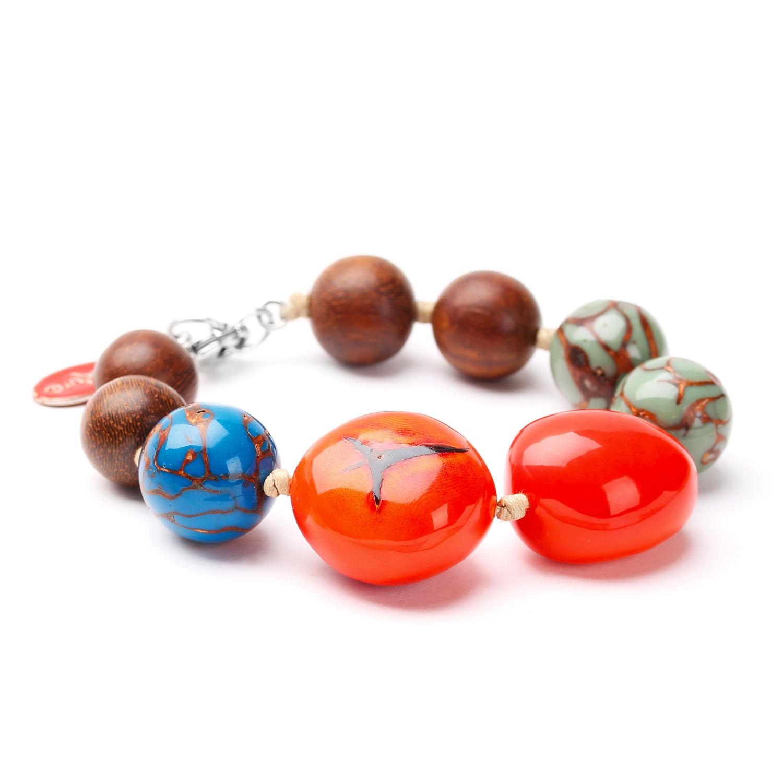 WANDJI bracelet perles assorties