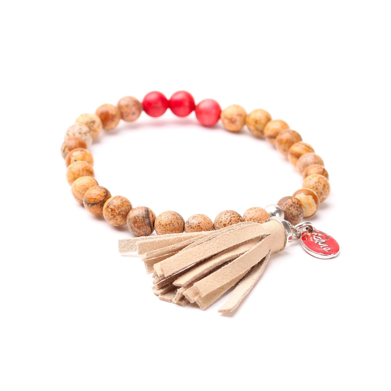 CHEYENNE bracelet extensible pompon