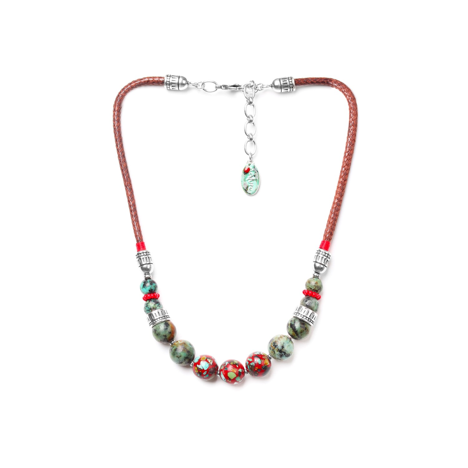KATMANDOU 3 red beads necklace