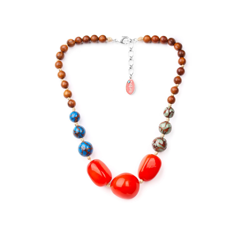 WANDJI collier 3 perles tagua