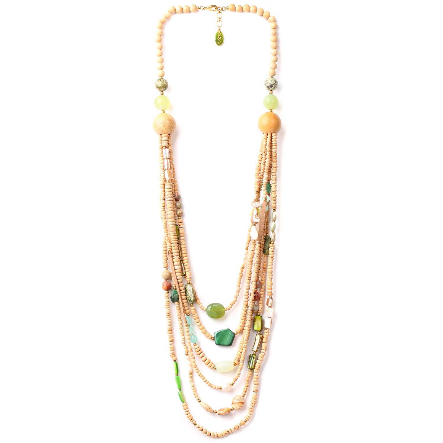 DANUBE 6-row long necklace