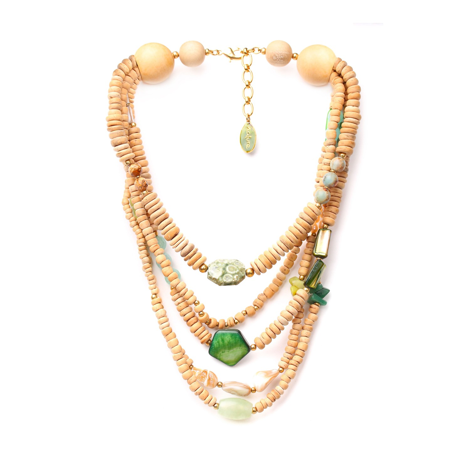 DANUBE 5-row necklace
