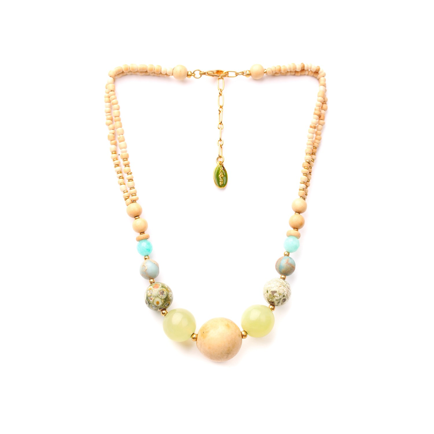 DANUBE graduated beads necklace