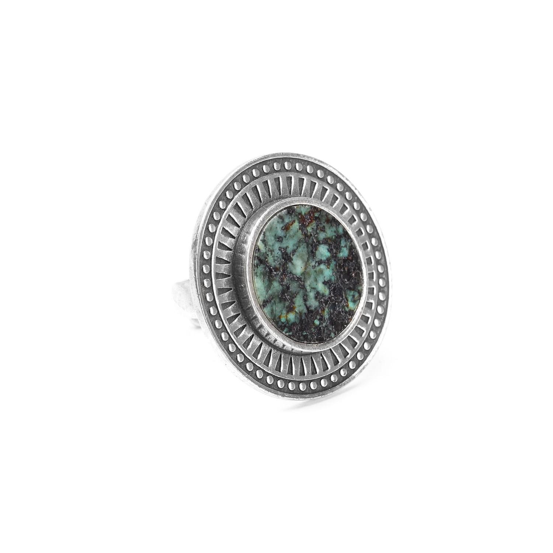 KATMANDOU  round ring w/turquoise center
