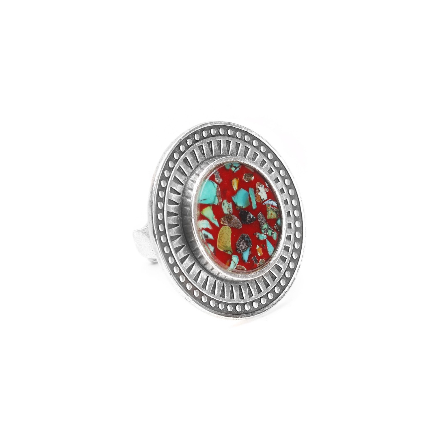 KATMANDOU round ring w/red center