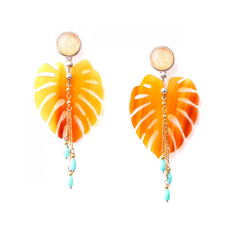 GARDEN CITY BO brunes perles turquoises