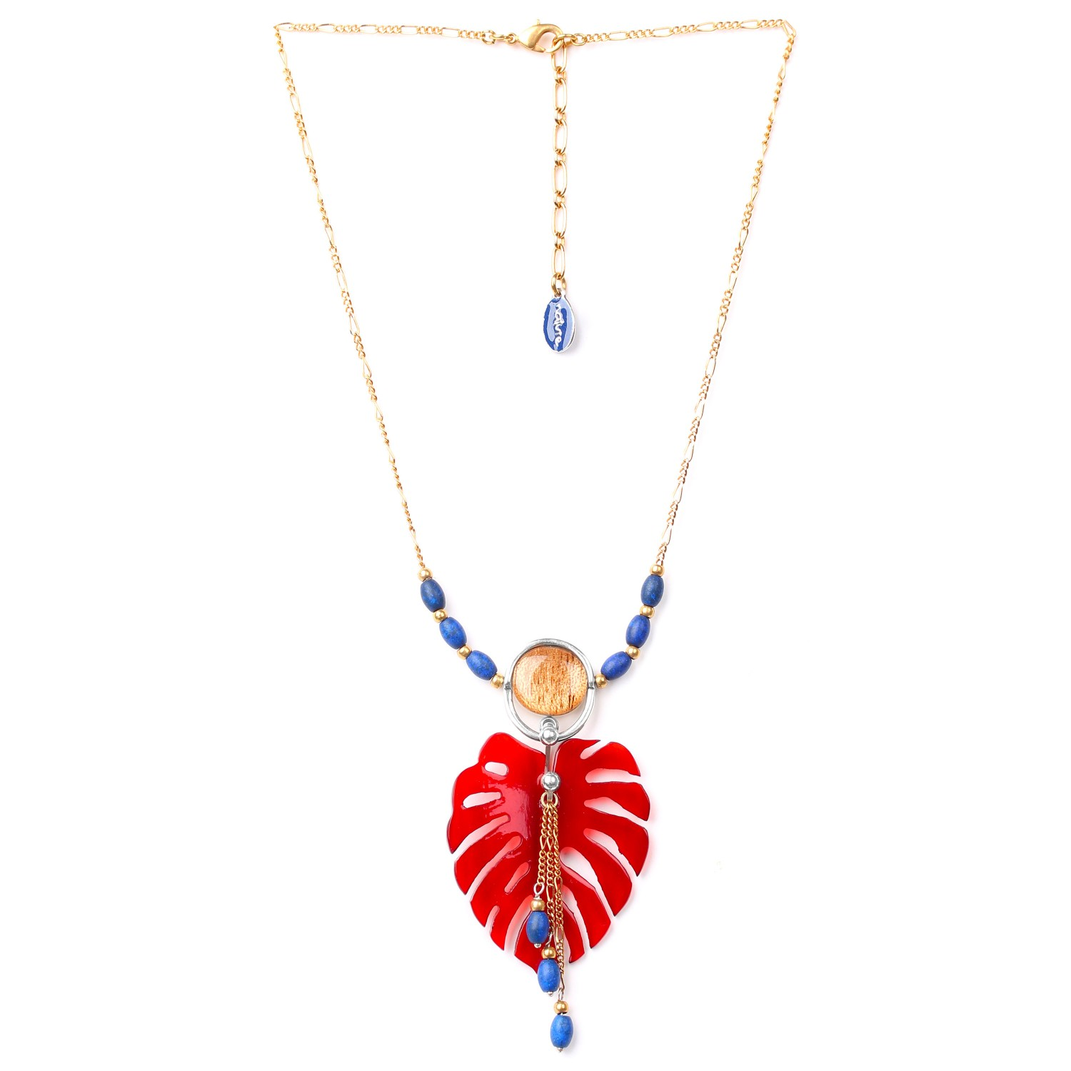 GARDEN CITY red leaf short necklace