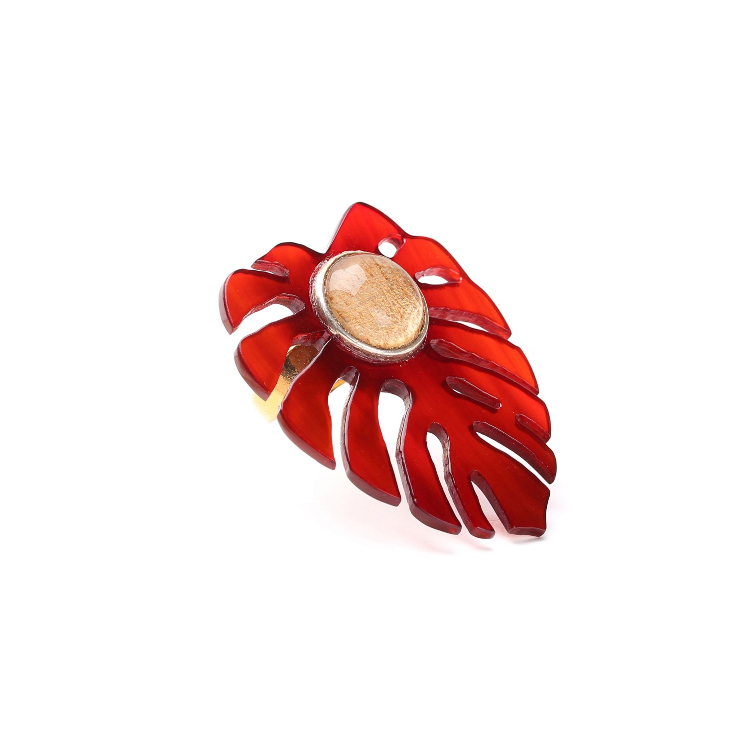 GARDEN CITY bague rouge