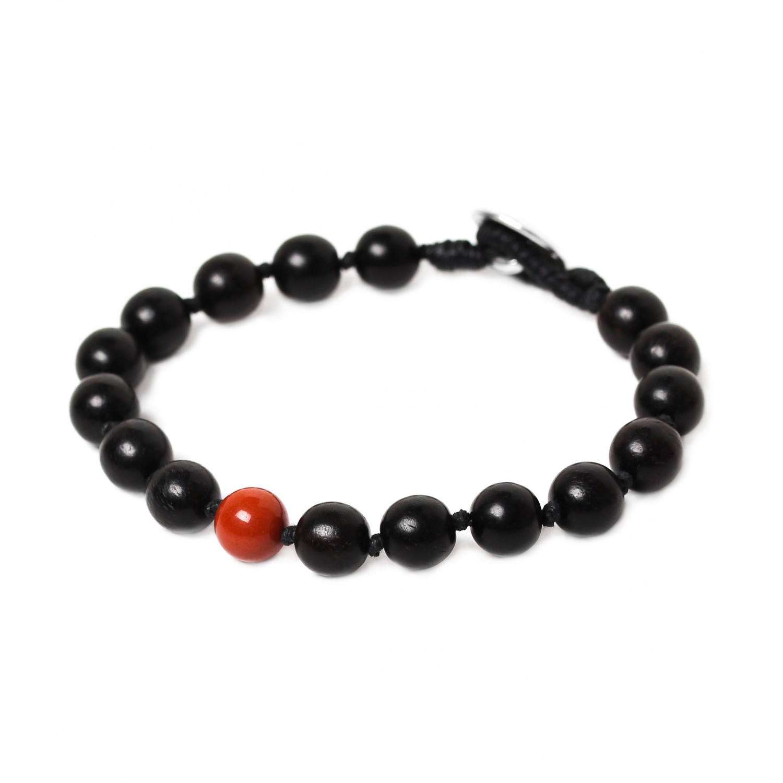 BOUTON bracelet jaspe rouge