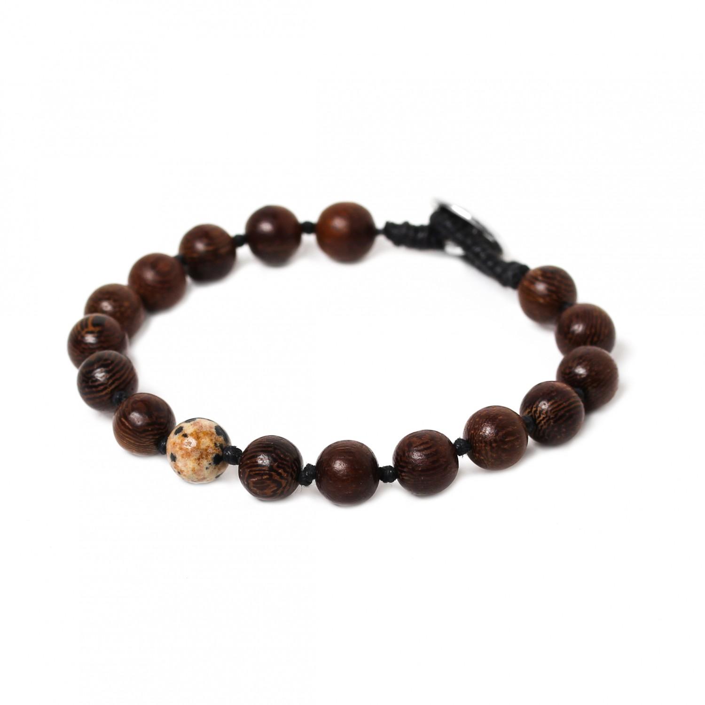BOUTON bracelet jaspe dalmatien