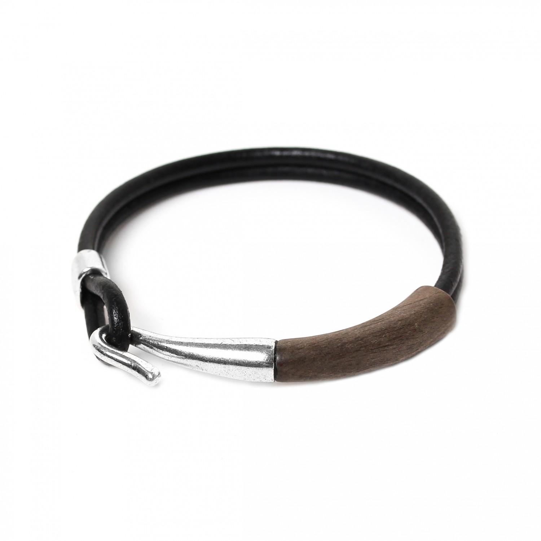 CROCHET bracelet ébène gris