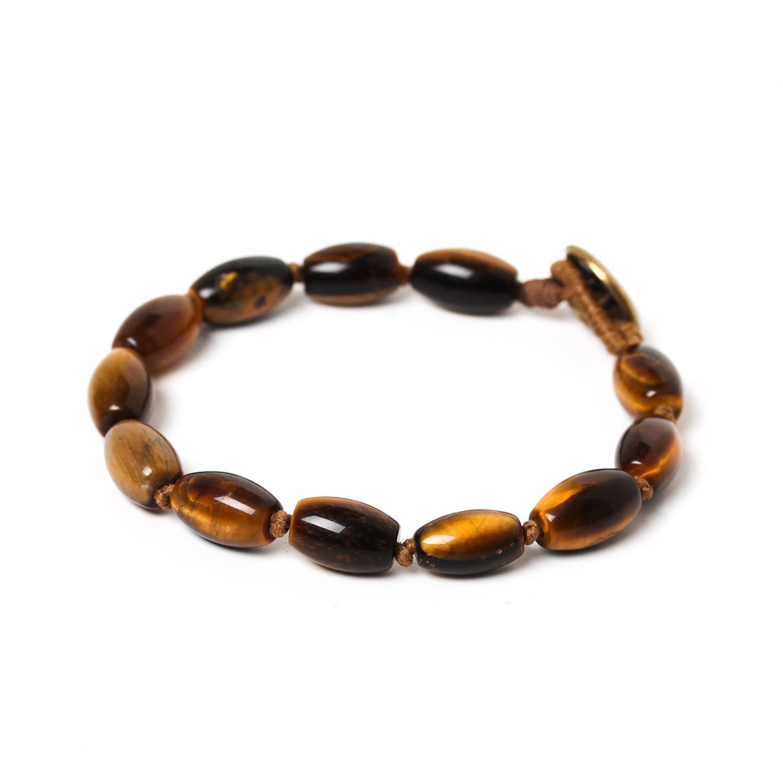TIGER EYE bracelet tonneaux