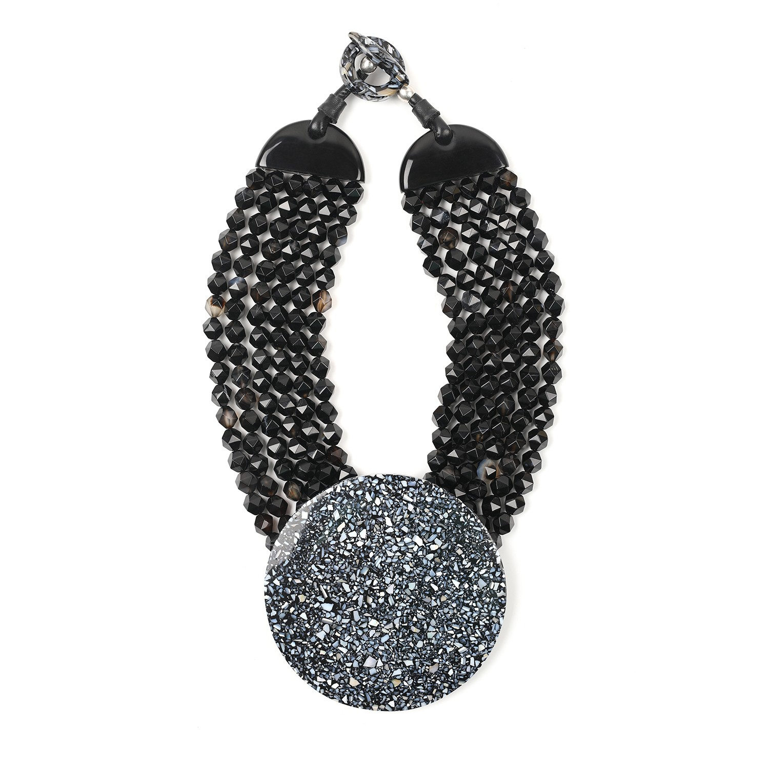 Necklace limited edition black terrazzo