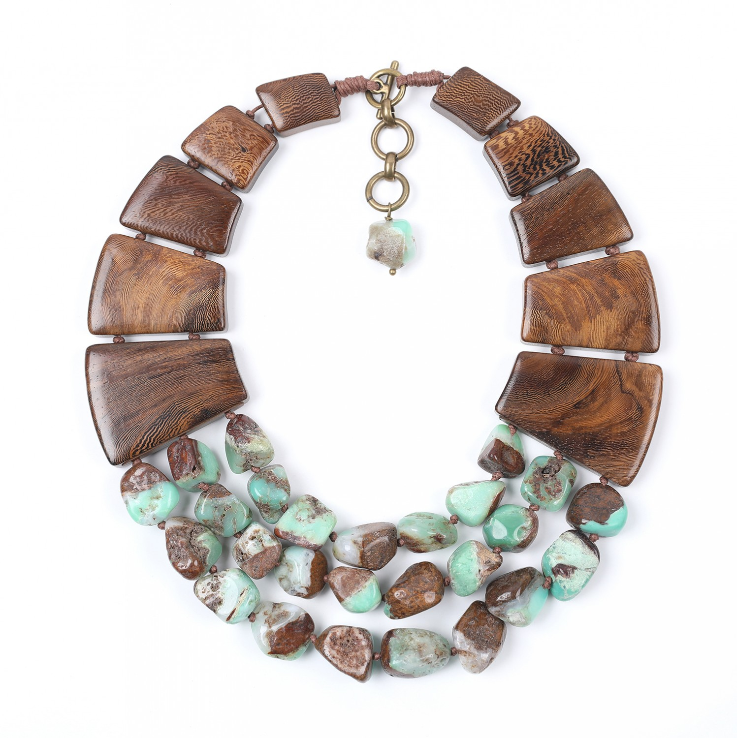 Necklace limited edition chrysoprase