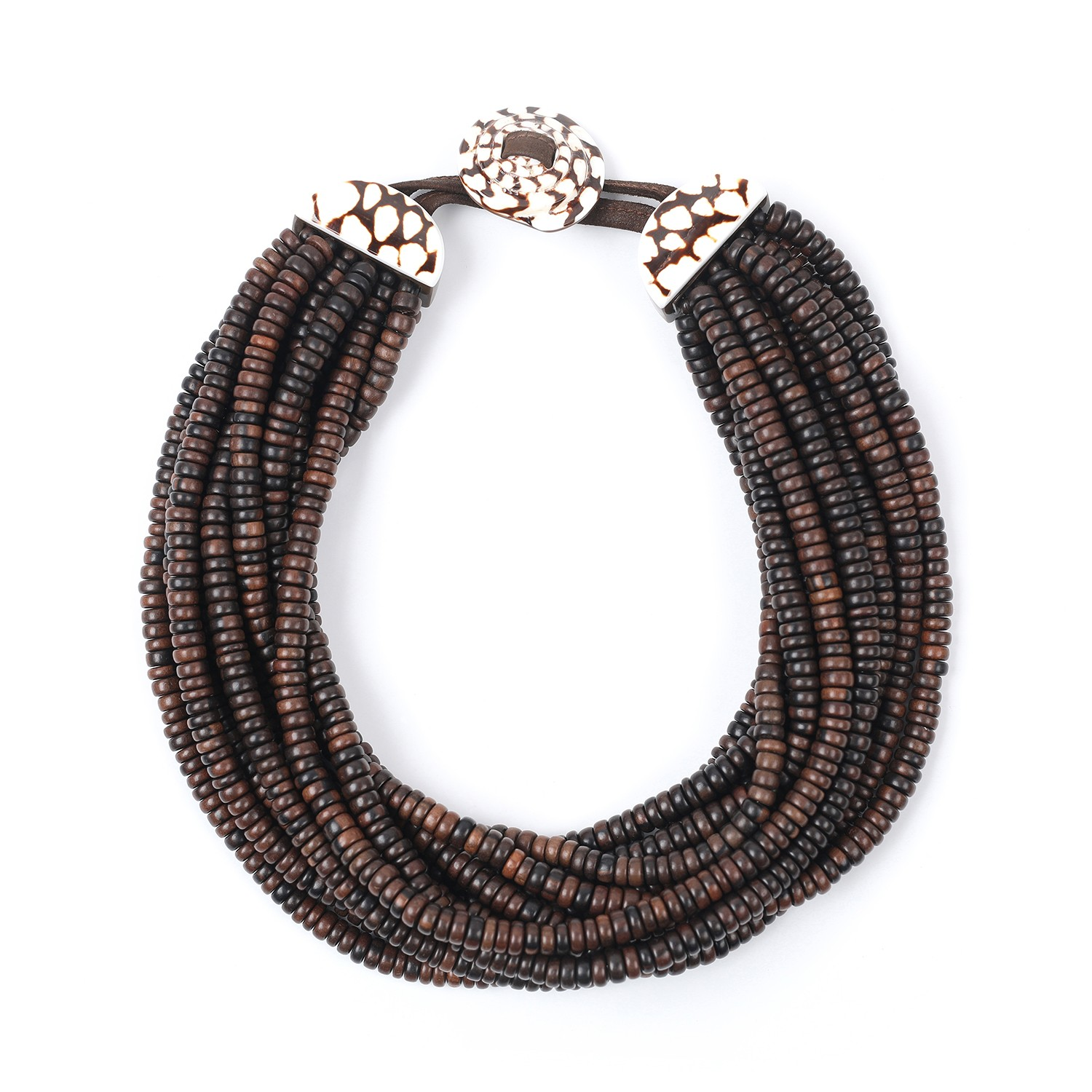 Necklace limited edition shell and ebony