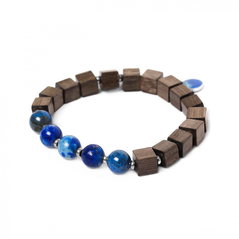 CUBES lapis bracelet