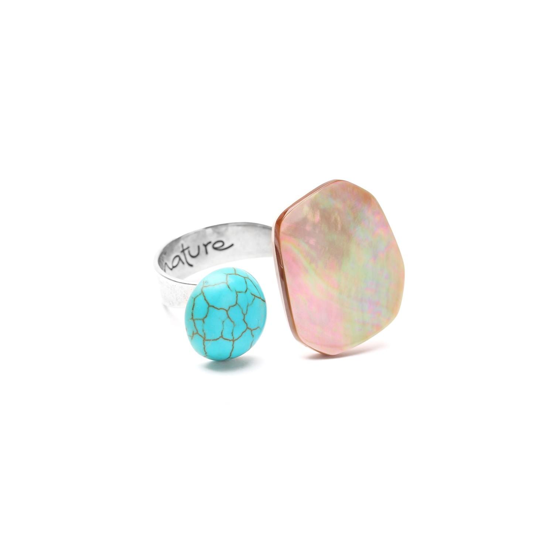 MANGAREVA blue duo ring