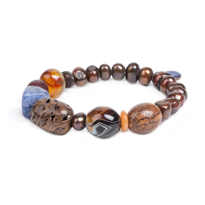 MALAWI pearl stretch bracelet