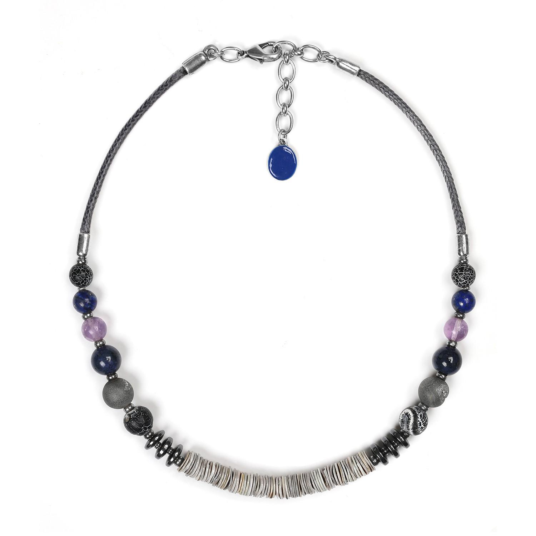 BAIKAL heishi-center necklace