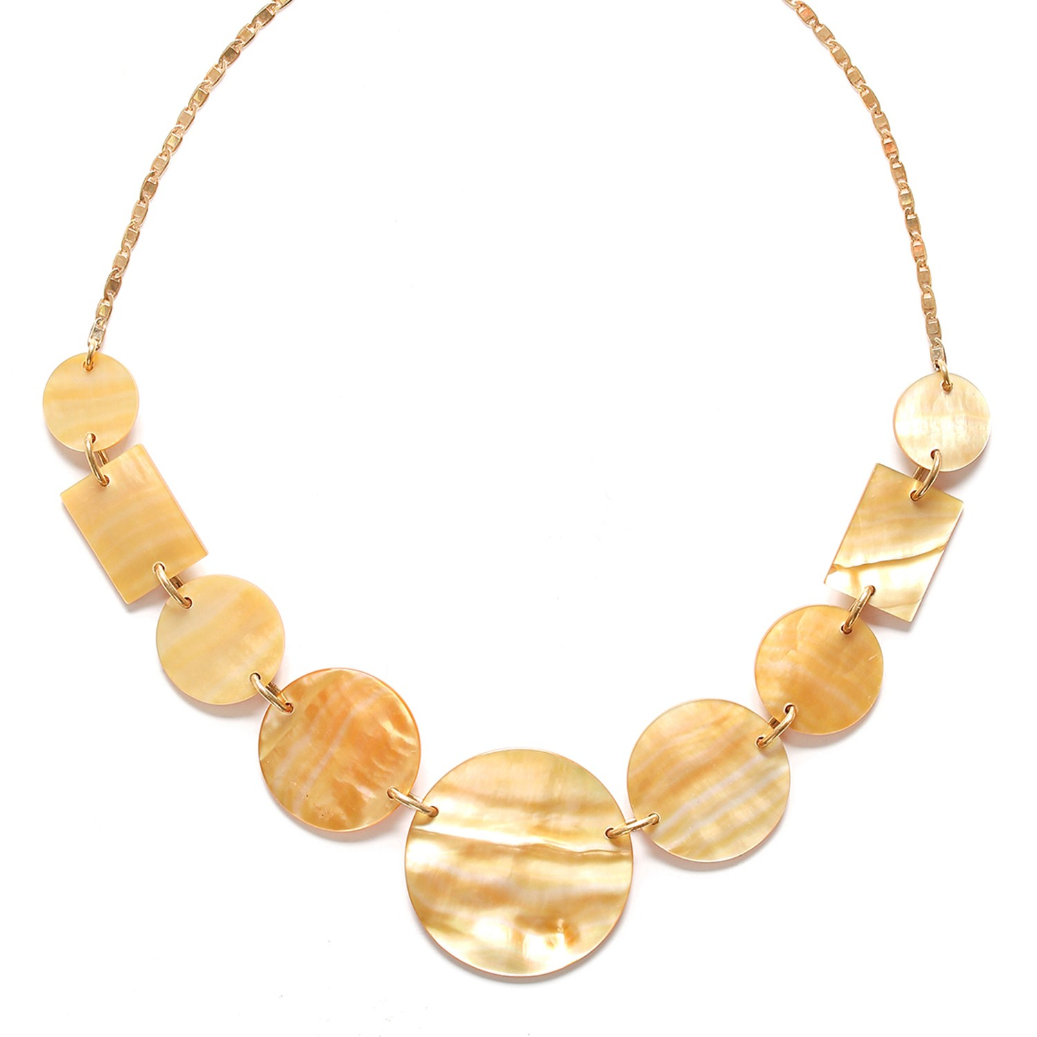 ORO graduated elements necklace