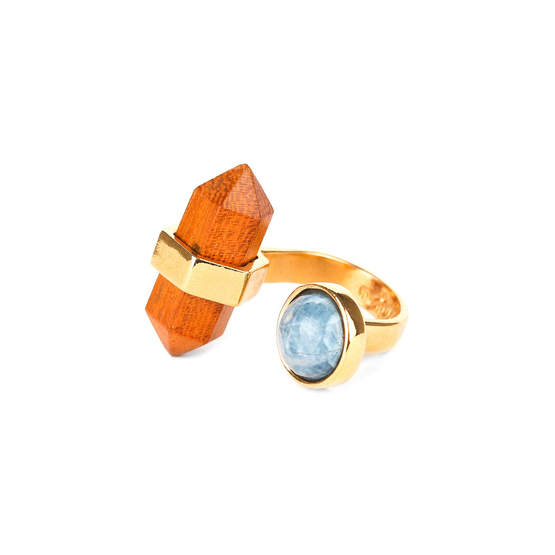 WOOD DIAMONDS duo ring